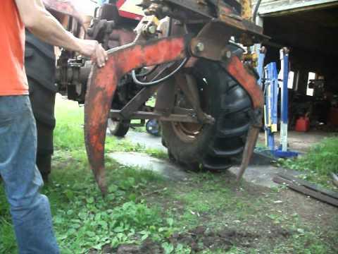 Tractor Turned Into Grapple Log Skidder Massey Ferguson