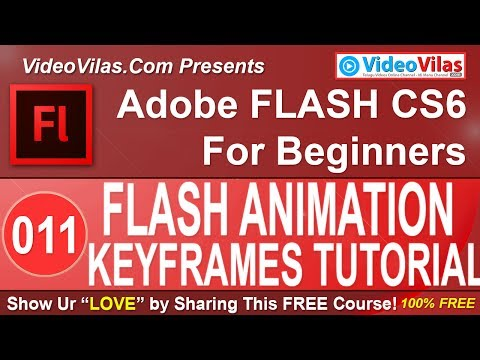 #11 Adobe Flash CS6 Tutorial (Telugu) - Flash 2D Animation & Keyframes Types (For Beginners)