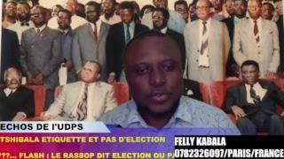 Gambar cover ECHOS DE L'UDPS: B.TSHIBALA IMPUISSANT + RASSOP...PAS DE DIALOGUE