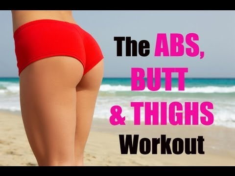 15 Minute Abs Butt Amp Thighs Workout Abs Workout Butt