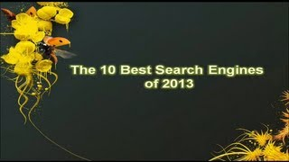 The Best 10 Search Engine of 2013