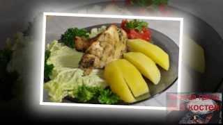 Рецепт приготовления куры без костей. Курица без костей фаршированная грибами запеченная в духовке