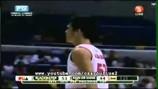 Raymond Almazan dunk and and1 play/Rain Or Shine vs Blackwater Elite