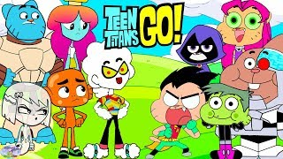 Teen Titans Go! Color Swap Transforms Raven Starfire Gumball Surprise Egg and Toy Collector SETC