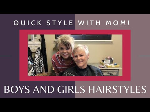 Quick style with Mom! Happy Friday, y'all!  - Short Hairstyles Over 60 thumbnail