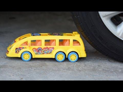 Crushing Crunchy   & Soft Things By Car   Experiment Car Vs Toys   Slime Crushing!
