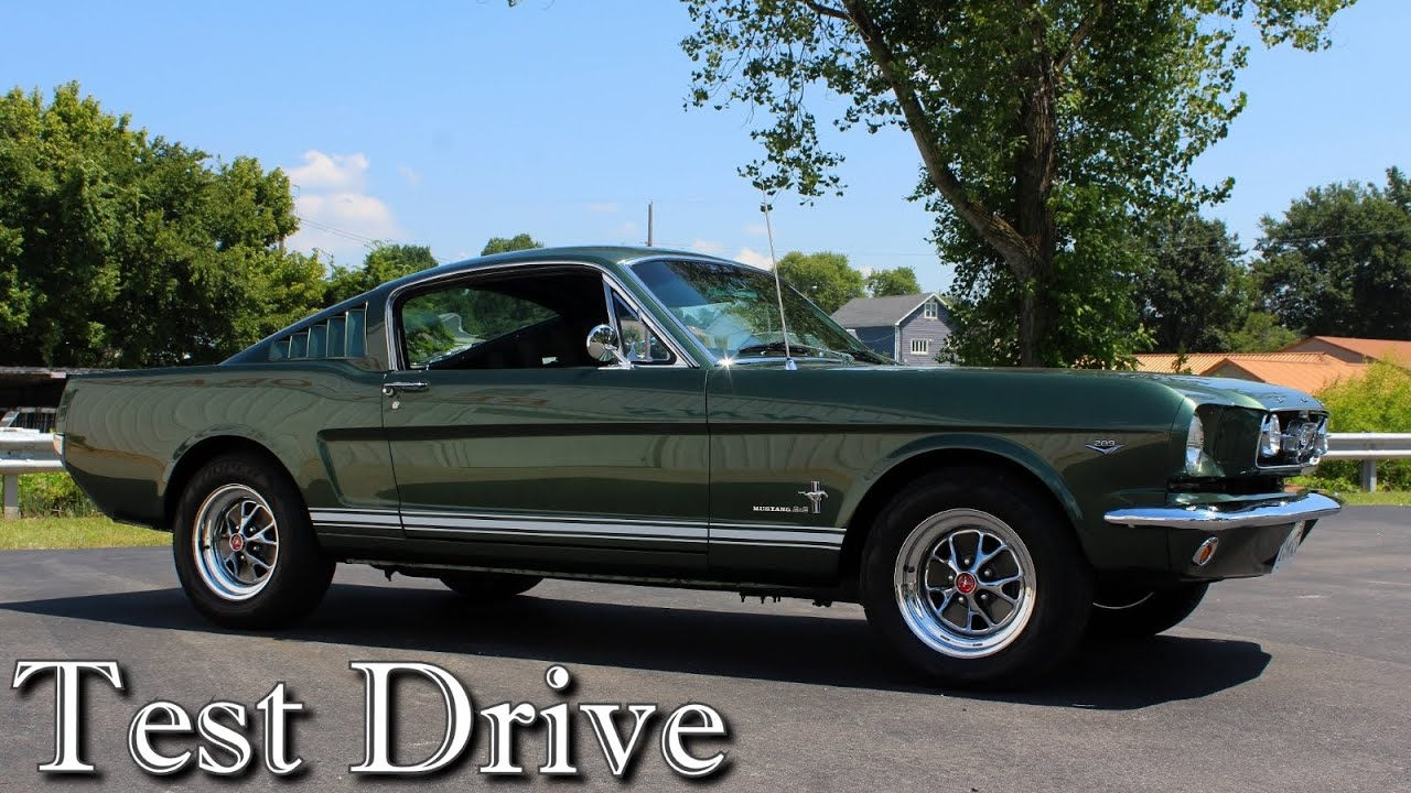 Ford Mustang Fastback >> Test Driving 1965 Ford Mustang Fastback 289 V8 Four Speed
