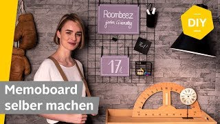 DIY: Memoboard aus Drahtgitter selber machen | Roombeez – powered by OTTO