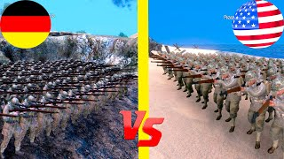 ГЕРМАНИЯ против АМЕРИКИ Ultimate Epic Battle Simulator Омаха Бич МОДЫ
