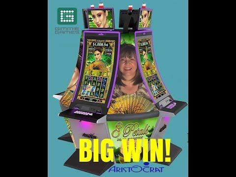 BIG WIN!  8 PETALS SLOT MACHINE BONUS