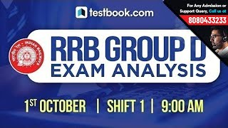 RRB Group D Exam Analysis | 1st October Shift 1 | RRB Group D 2018 Exam Review + Questions Asked