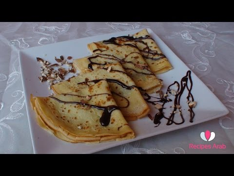 crepes-au-chocolat-/-تحضير-كريب-بالشوكولا-واللوز-مداق-لا-يقاوم