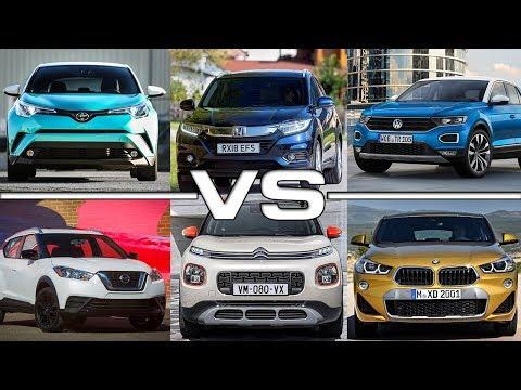 Toyota C-HR vs Honda HR-V vs Volkswagen T-Roc vs Nissan Kicks vs Citroen C3 Aircross vs BMW X2