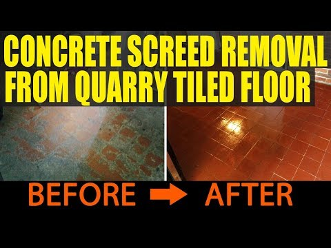 Concrete Screed Removed From Quarry Tiled Floor In Danehill Youtube