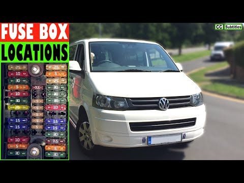 vw t5 fuse box locations and how to check fuses on vw t5 transporter -  youtube