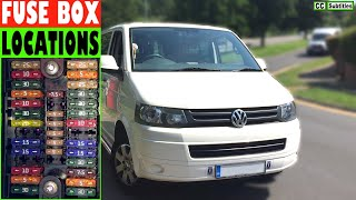 VW T5 Fuse Box Locations and how to check Fuses on VW T5 Transporter -  YouTubeYouTube