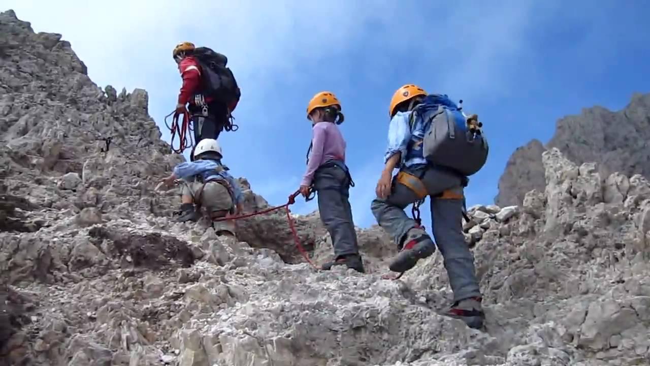 Klettersteig Rosengarten : Klettersteig rotwand rosengarten obereggen youtube