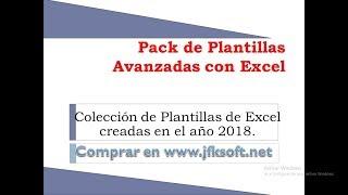 Pack 2018 de Plantillas Avanzadas con Excel