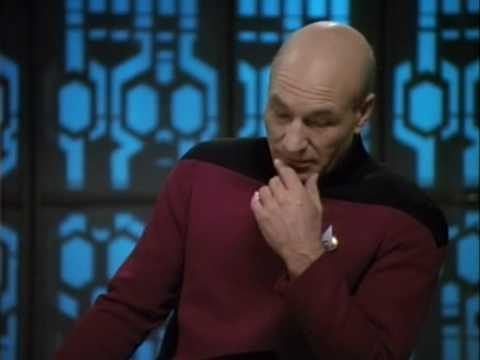 In light of a call to arms, Picard warns us not to fall for it. The Drumhead