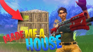An ENEMY Made Me a HOUSE Mid Game in Fortnite BR! - Fortnite Battle Royale