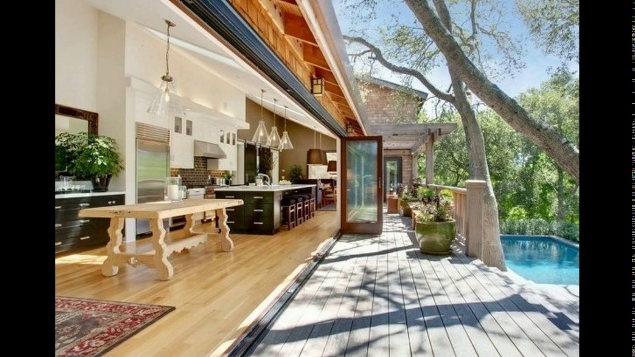 Cool indoor outdoor kitchen designs - YouTube