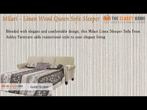Ashley Milari Traditional Fabric Queen Sofa Sleeper Youtube