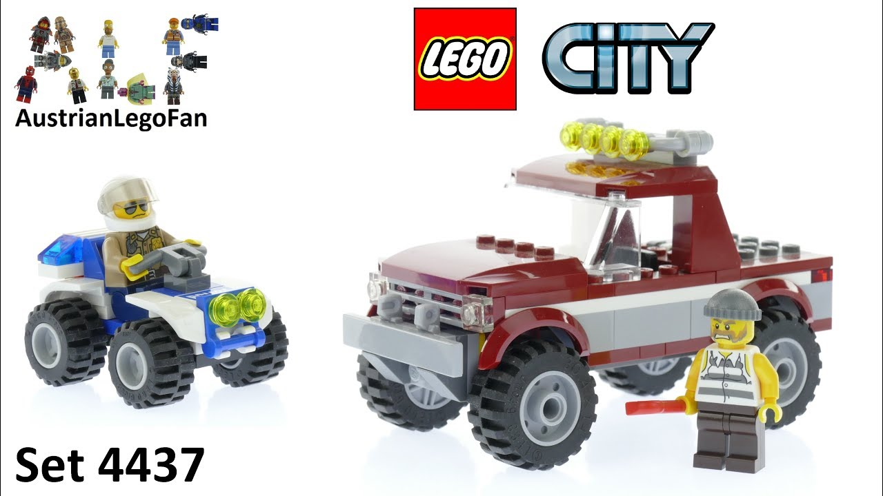 Lego City 4437 Police Pursuit Lego Speed Build Review Youtube