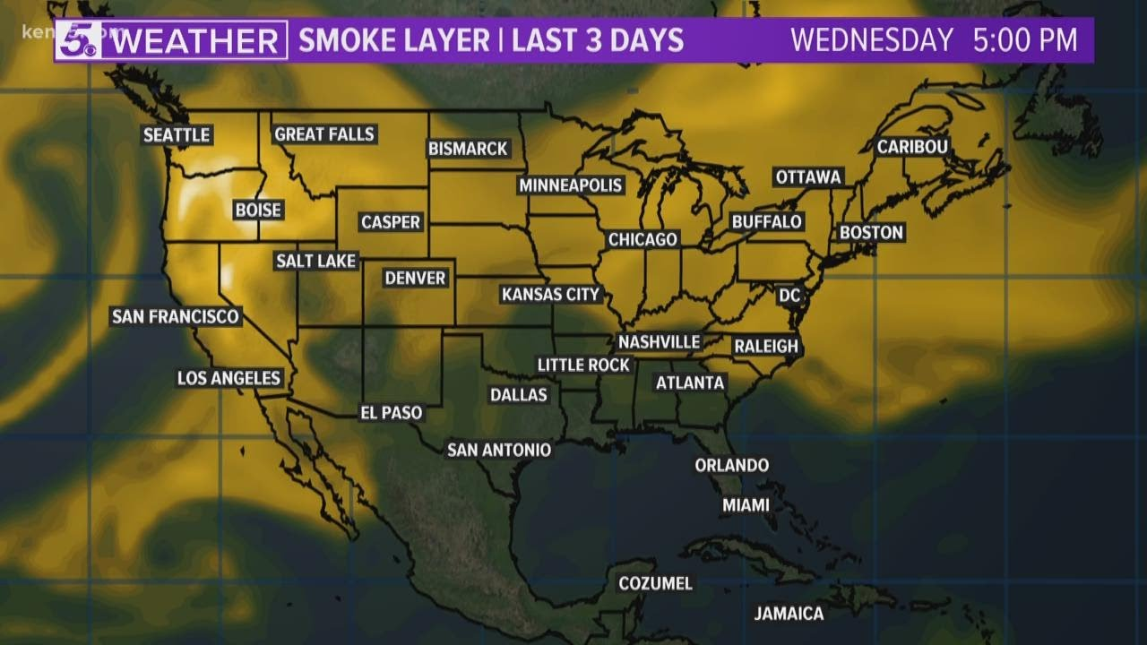 Thick smoke from western wildfires is traveling thousands of miles ...