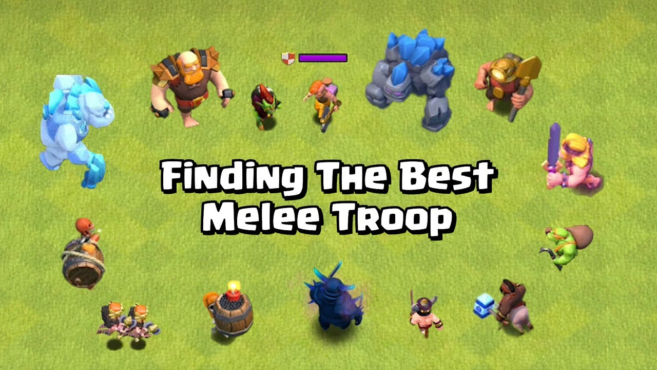 Finding The Best Melee Troop | Melee Troop Tournament Grand Finale | Clash of Clans