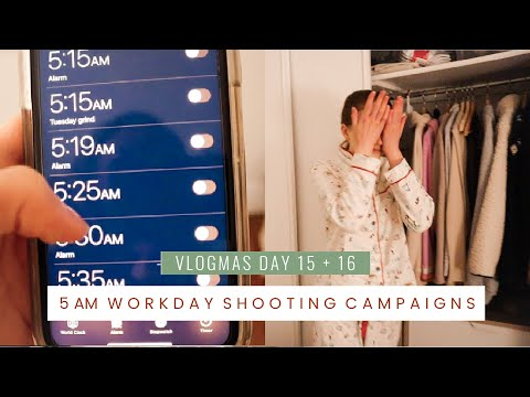 5am Workday in My Life Shooting Campaigns in NYC a Cozy Vlog at Home | Vlogmas days 15+16