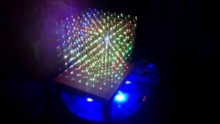 8x8x8 RGB LED CUBE(8*8*8 трехцветный куб из светодиодов своими руками. Куб собран по схеме Кевина Дараха http://www.kevindarrah.com/?cat=99 с..., 2016-03-07T09:47:53.000Z)