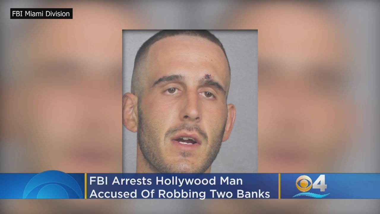 FBI Arrests White Man from Hollywood For Robbing 2 Banks