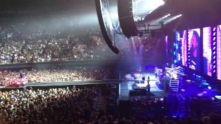 Foo Fighters The Pretender Thrown coming towards center of stage - Los Angeles Forum - 9.22.2015