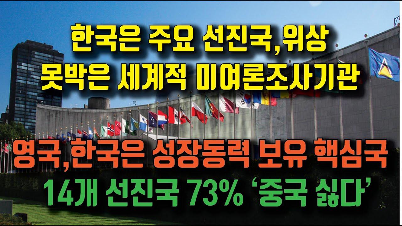 Download 한국은 주요 선진국 못박은 미국기관,  영국, 한국은 성장동력 보유 크게 발전할 핵심국