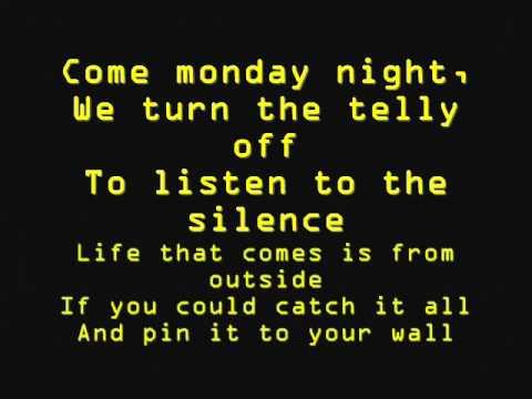 God Help The Girl- Come Monday Night (Lyrics)