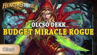 Olcsó dekk: Budget Miracle Rogue - Hearthstone