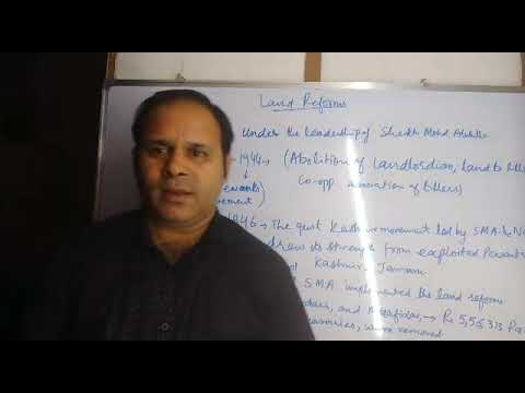 JKSSB Naib Tehsildar and Patwari study material with explanations Land Reforms 1