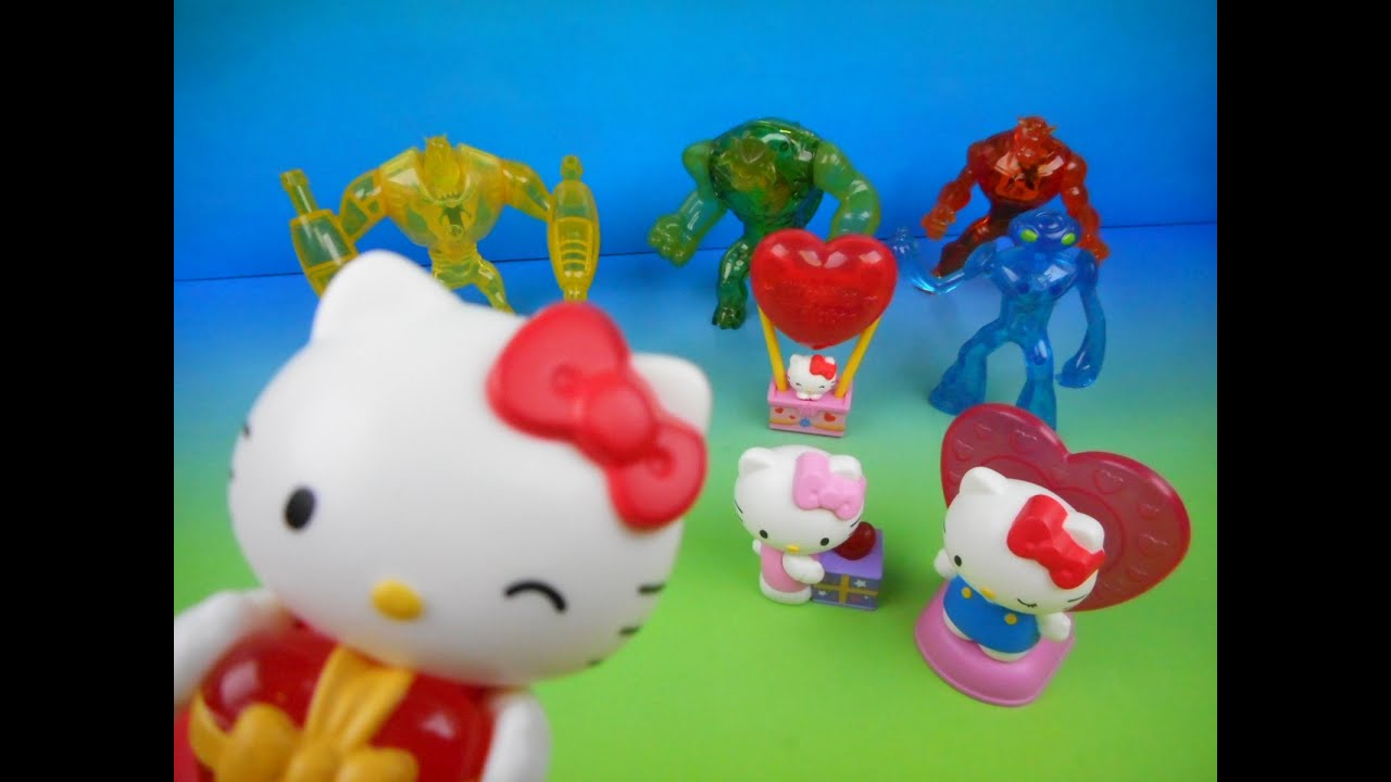 Hello Kitty Mcdonald S Toys : Ben ultimate alien and hello kitty set of