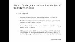 Recent cases and developments for liability apportionment in labour hire claims