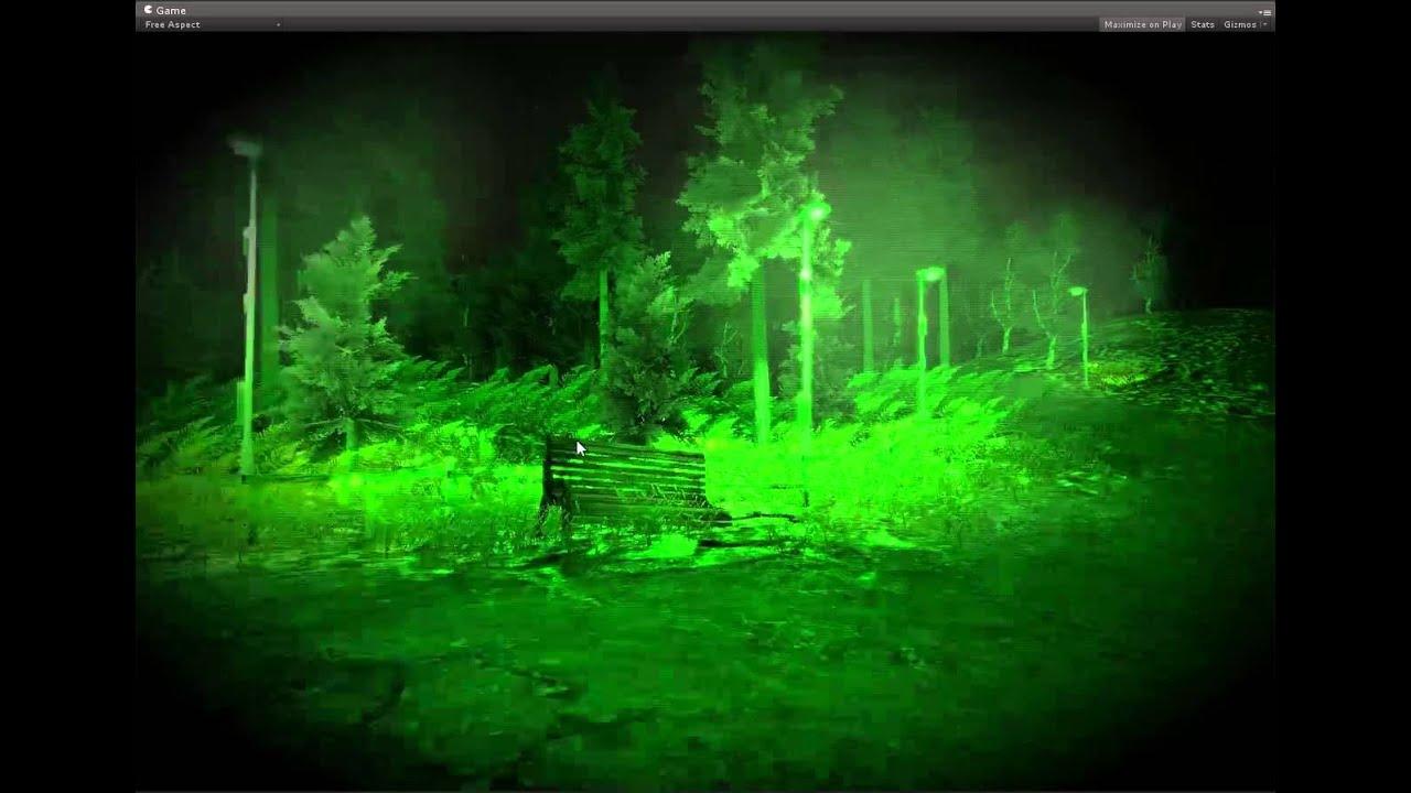 Unity Game Engine Night Vision Effect Showcase YouTube