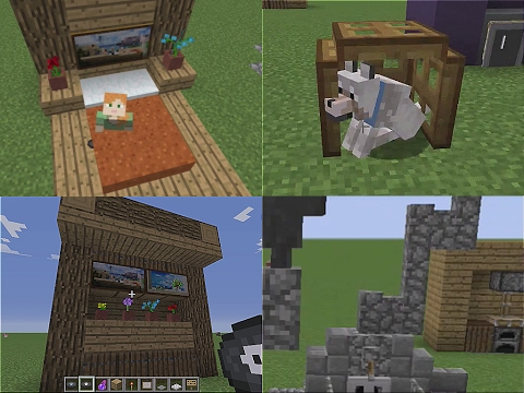 minecraft how to make a dog bed