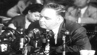 "Congressman Nixon and Chief Investigator Stripling examine the ""Pumpkin Papers"" l...HD Stock Footage"