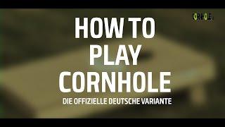 How To Play Cornhole (Deutsche Version) - wie geht das Cornhole Spiel