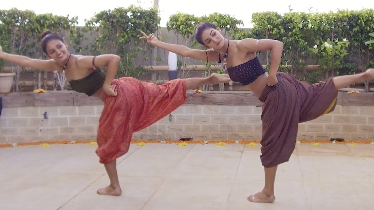 MUKTI & SHAKTI MOHAN FUSION DANCE ON SHAPE OF YOU CARNATIC MIX BY INDIAN RAGA FEAT ADITYA RAO