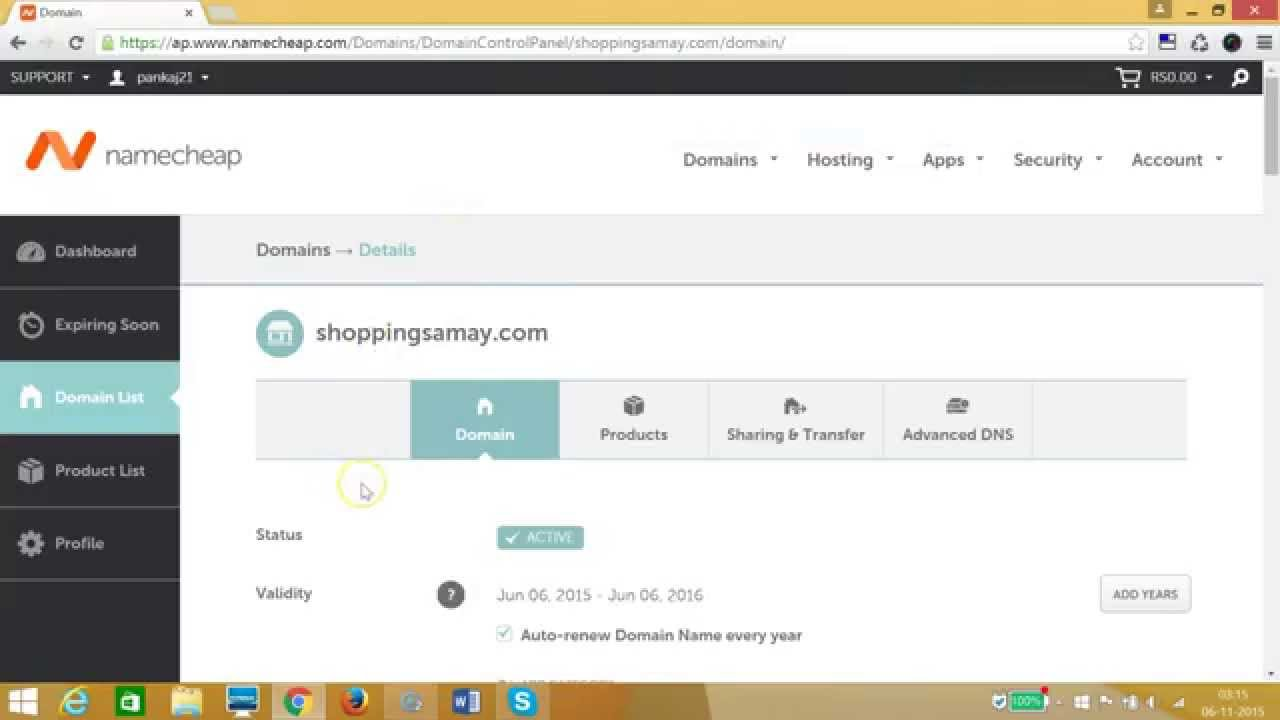 updating domain name servers dns in namecheap     youtube
