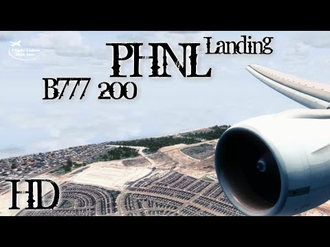 FSX Realistic GRAPHICS !! l B777-200 Landing In Honolulu International Airport - HD