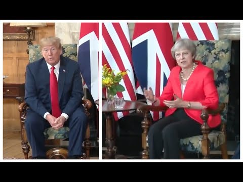Theresa May says something SHOCKING at Bilateral Meeting with President Donald Trump on Brexit