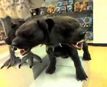 Plush 3 Headed Dog