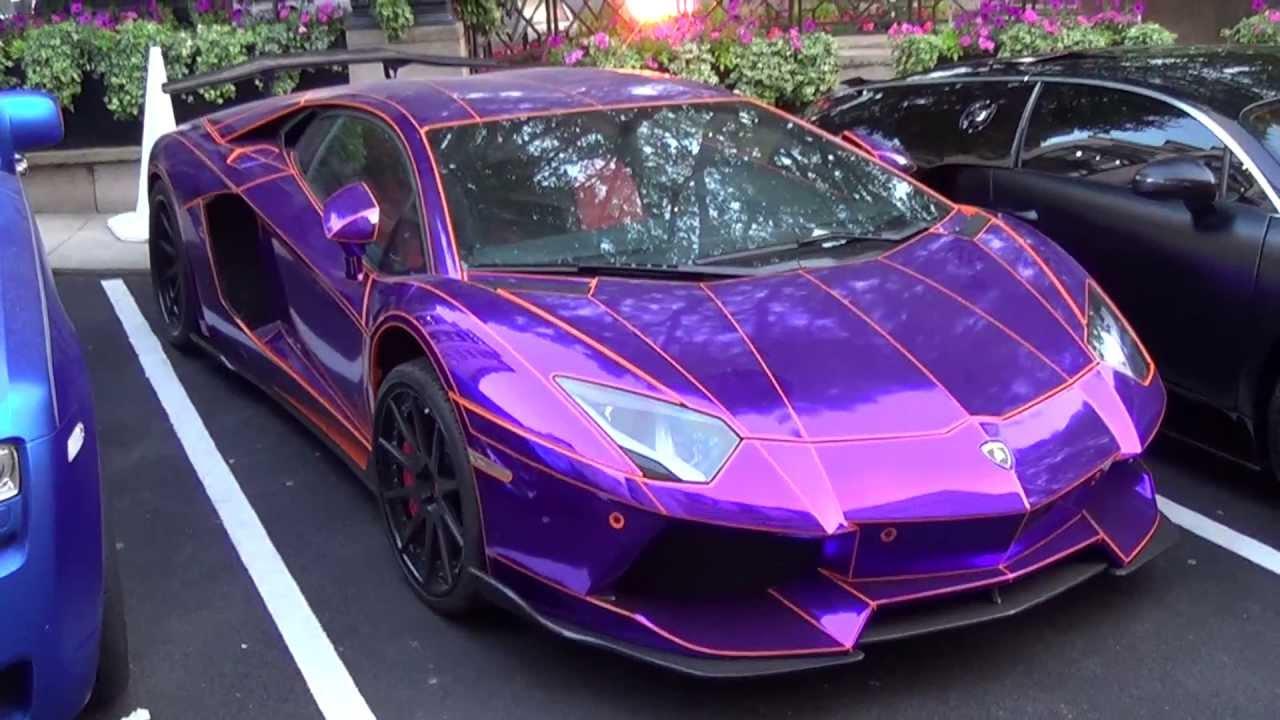 3d Wallpaper In Qatar Epic Chrome Purple Lamborghini Aventador By Lb Performance