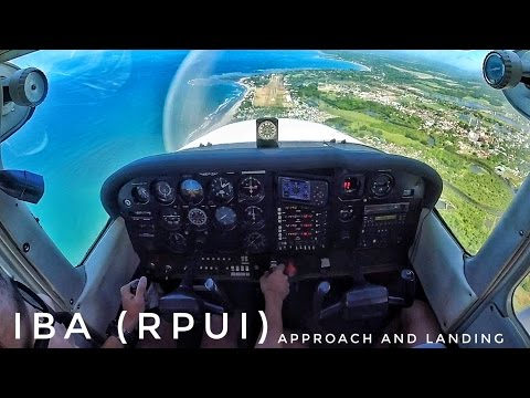 Cessna 172P | Landing in Iba | Visiting Coto Mines